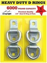 D Rings - Heavy Duty 4 Pack 6000 Pound Breaking Strength