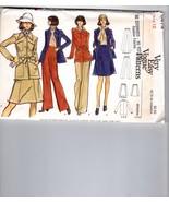 Vtg 70s Vogue 8474 Safari Jacket Patch Pocket A-line Skirt Pants Pattern... - $14.36