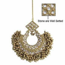 Traditional Chaand Bali Style with Pearls and Stone Work Maang Tikka fo... - $20.78