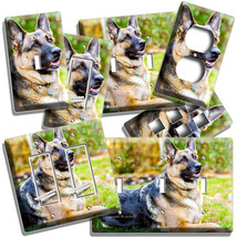 GERMAN SHEPHERD DOG RELAXING LIGHT SWITCH OUTLET WALL COVER GROOMING SAL... - $9.99+