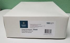 "Business Source Clasp Envelopes 28 lb. 10""x13"" 100/BX Brown Kraft 36665 - $10.89"