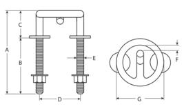 "NEW Attwood 3-1/2"" 3.5"" Stainless Steel Ring Diameter Ski Tow Hook 66451-1 image 2"