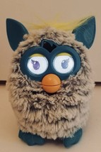 Hasbro Furby Boom 2012 Yellow Blue Gray Grey Light Up Motion Excellent T... - $20.75