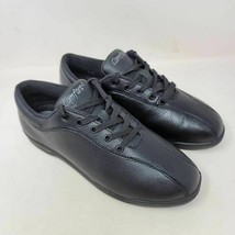 Easy Spirit Womens AP1 Walking Shoes Black Low Top Lace Up Bicycle Toe 8.5 D - $18.99