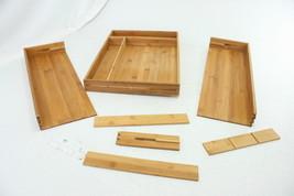 AmazonBasics Bamboo Expandable Kitchen Utensils Drawer Organizer DIVIDER... - $12.64