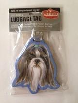 Shih Tzu Dog Luggage Tag Baggage Identifier Vac... - $15.99