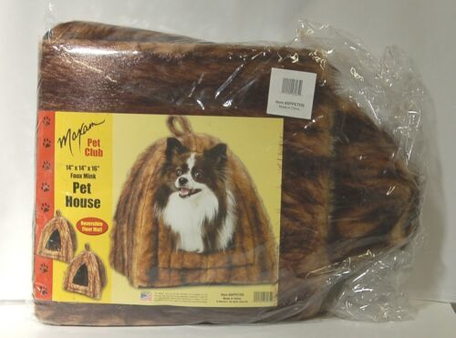 Maxam Pet Club SPPETHS Faux Mink House Brown Black Packaged