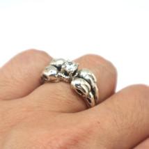 Silver Raven Skull Ring image 1