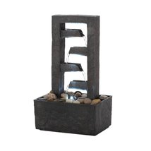 Tabletop Fountains, Small Decorative Indoor Tabletop Fountain Led Light - $36.18