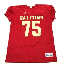 VINTAGE Russell Falcons Football Jersey Youth Size Extra Large Red V-Nec... - $27.33