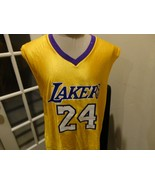 Los Angeles Lakers #24 KOBE BRYANT NBA Basketball Screen Polyester Jerse... - $69.29