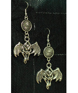 Beloved Bat Vampire Dangle Metal Gothic Earrings Made with Nickel-Free H... - $5.40
