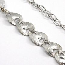 SILVER 925 NECKLACE, GIADA BROWN, LENGTH 80 CM, CHAIN WORKED WITH FLOWERS image 5