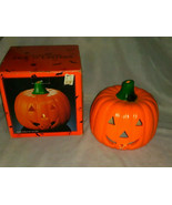 Halloween Earthenware Pumpkin Jack o' Lantern Votive/Tea Light Candle Cover - $21.50