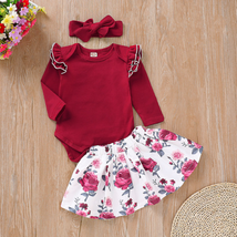 3PCS Newborn Infant Baby Girl Clothes  Romper Tops Floral Dress Skirt Ou... - $10.99