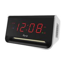 "AC Powered 0.9"" Red LED Digital USB Dual Alarm Clock - $19.94"