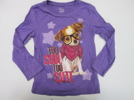 """The Childrens Place """"Too Cool Too Cute"""" long sleeve print t-shirt SIZE 4 - $3.91"""