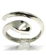 White gold ring 750 18k, snake, stylized, made in Italy, open - $588.64