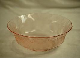 """Old Vintage MacBeth Evans Dogwood Pink 8-1/4"""" Serving Bowl Pink Depressi... - $34.64"""