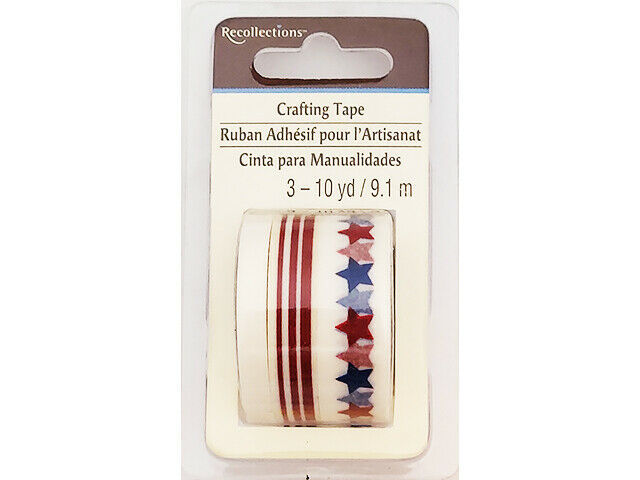 Recollections Patriot Washi Tape, 3 Rolls #221742