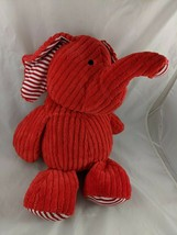 "Animal Adventure Red Elephant Plush Ribbed Stripe 17"" 2014 Stuffed Animal - $20.76"