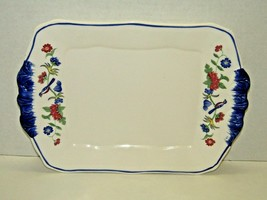 Vintage Ceramic Stamped Japan Floral & Bird Motif Serving Tray Plate 11 ... - $20.79