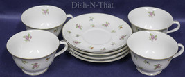 NORITAKE china MADE IN OCCPIED JAPAN FLORAL patter set of 4 tea cups and... - $56.09