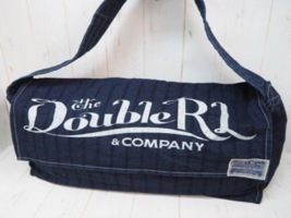 RRL DOUBLE RL RALPH LAUREN Indigo Shoulder Bag Cotton Leather Cowhide Vi... - $469.00