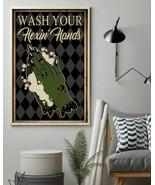 Retro Black Restroom Wash Your Hexing Hand, Art Prints Poster Home Decor... - $25.59+