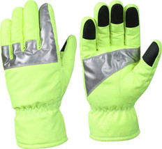 Safety Green High Visibility Insulated Waterproof Gloves With Reflective... - $19.99