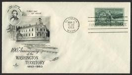 #1019 3c Washington Territory, Art Craft-Addressed FDC **ANY 4=FREE SHIP... - $1.00