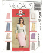 McCall's 2634 Skirt Pattern 8 in 1 Ruffle Hem Option Size 8 10 12 Uncut - $6.99