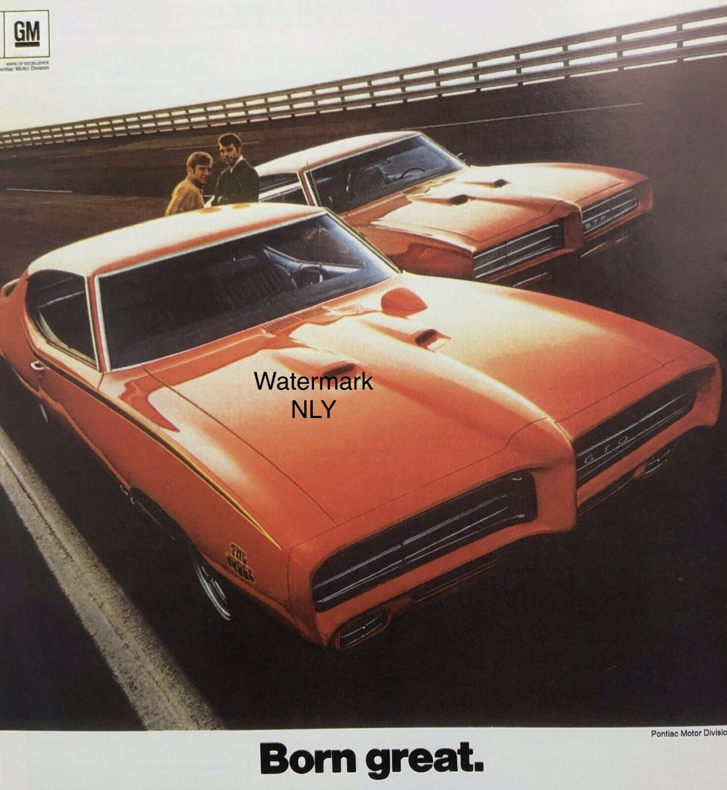 Primary image for 1968 Pontiac G T O Orange Car Print Ad