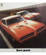 1968 Pontiac G T O Orange Car Print Ad - $9.97