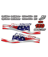 USA MADE Mercury 150 Sticker Decals Outboard Engine Graphic Kit EFI Stic... - $74.20