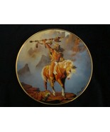SPIRIT OF THE SOUTH WIND collector plate HERMON ADAMS Native WESTERN HER... - $9.99