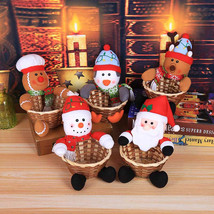 Christmas Candy Storage Basket Decoration Santa Claus Storage Basket Gift  - $9.00
