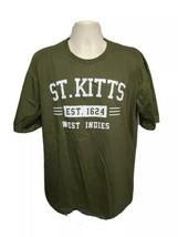 St Kitts West Indies est 1624 Adult Medium Green TShirt - $19.80