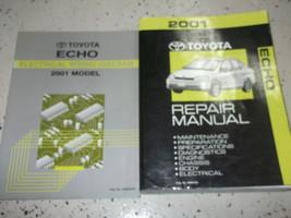 2001 TOYOTA ECHO Service Shop Repair Manual Set FACTORY W WIRING DIAGRAM - $168.25