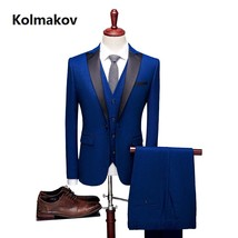 "Men""s suit Fashion classics Slim Fit Casual wedding dress suits Man Busi... - $133.70"