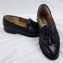 Johnston and Murphy Domani Italy Black Long Wing Tassel Loafers Mens Sz ... - $29.02