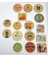 16 Vintage Beer Coaster Lot 1970's Germany Spaten Munich Heineken Beck Z... - $19.95