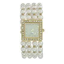 Modern Pearlesque Stretch Bracelet Watch image 5
