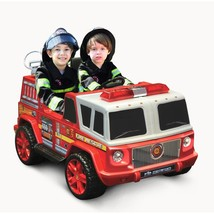 Ride On Fire Engine Two Seater 12 Volt Battery Operated Red Kids Fun Pla... - $308.31