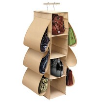 Handbag Hanging Closet organizer 8 side pockets 4 shelves great 4 shoess... - $21.47
