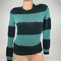 Ann Taylor LOFT Sweater Size S Small Stripe Green Long Sleeve Crew Neck A33 - $18.61