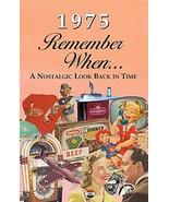 1975 REMEMBER WHEN CELEBRATION KARDLET: 45th Gift - Birthdays, Anniversa... - $3.96