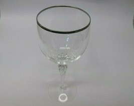 Lenox Madison goblet Crystal platinum Made in USA  - $22.20