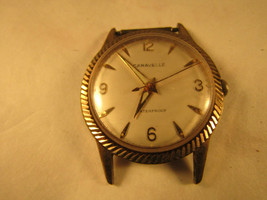 VINTAGE 1966 CARAVELLE FLUTED BEZEL 17 JEWEL WATCH RUNS FOR REPAIR OR PARTS - $91.92