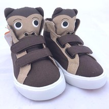 Gymboree Brown Bear Shoes 5 NEW Boys Baby Toddler High Tops Sneakers - $15.83